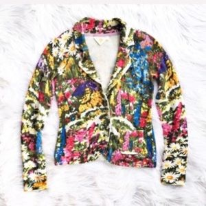 Anthropologie HWR Adjua floral cardigan